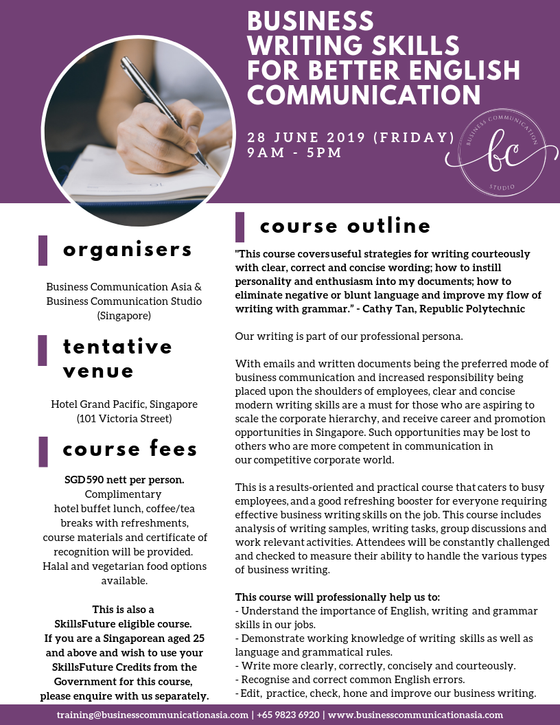 professional business writing course