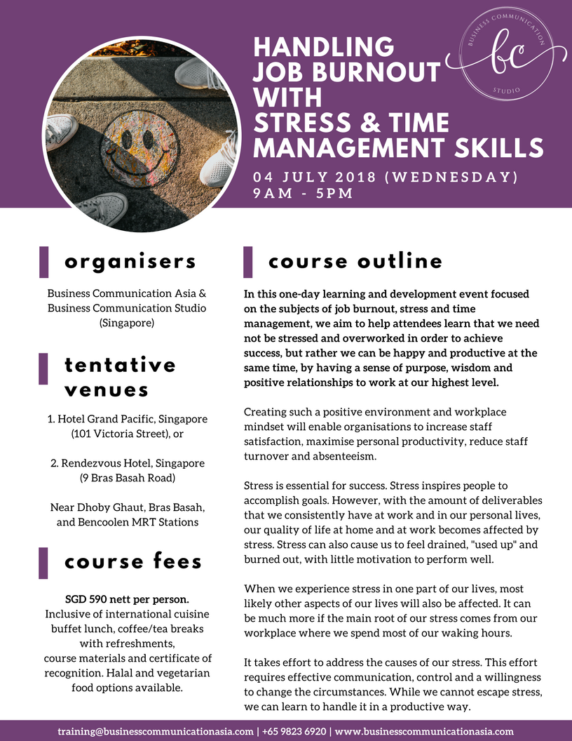 Handling Job Burnout With Stress And Time Management Skills 04 July